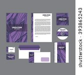 corporate identity template... | Shutterstock .eps vector #393865243