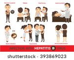 hepatitis infection.cartoon... | Shutterstock .eps vector #393869023