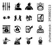 criminal thief vector icon set | Shutterstock .eps vector #393880213
