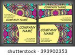 set of business card template ... | Shutterstock .eps vector #393902353