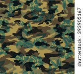 camouflage texture with... | Shutterstock .eps vector #393905167