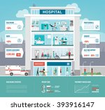 hospital and healthcare... | Shutterstock .eps vector #393916147