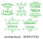 'farm to table'  'buy local'  ... | Shutterstock .eps vector #393917533
