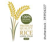 rice. vector illustration. | Shutterstock .eps vector #393926227