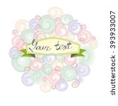 template for the greeting card  | Shutterstock .eps vector #393933007