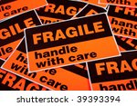 a background of orange fragile... | Shutterstock . vector #39393394