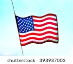 nation flag of the usa  stars... | Shutterstock . vector #393937003