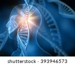 3d medical background with dna... | Shutterstock . vector #393946573