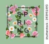 spring illustration with... | Shutterstock .eps vector #393951493