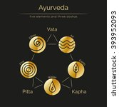 ayurveda vector illustration... | Shutterstock .eps vector #393952093