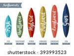 surfboard types   Shutterstock .eps vector #393993523