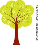 green tree vectors  spring tree ...   Shutterstock .eps vector #393993757