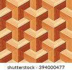 parquet 3d seamless floor... | Shutterstock .eps vector #394000477