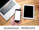 closeup image of a  hand... | Shutterstock . vector #394001353