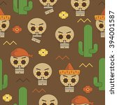 seamless mexican style pattern... | Shutterstock .eps vector #394001587