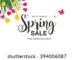 spring sale poster   Shutterstock .eps vector #394006087