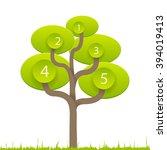 vector green tree info graphic... | Shutterstock .eps vector #394019413