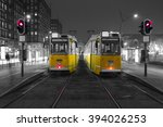 old tram in the city center of... | Shutterstock . vector #394026253