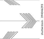 lines design . vector arrow... | Shutterstock .eps vector #394046293
