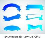 set of ribbons.ribbon banner... | Shutterstock .eps vector #394057243