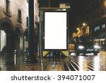 mock up of blank advertising... | Shutterstock . vector #394071007