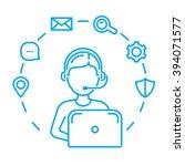 call center or technical... | Shutterstock .eps vector #394071577