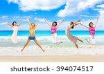 flying beauties having fun    Shutterstock . vector #394074517