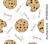 Seamless Doodle Cookies Patter...