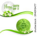 happy earth day banners for... | Shutterstock .eps vector #394093477