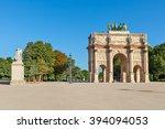 arc de triomphe du carrousel in ... | Shutterstock . vector #394094053