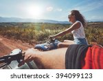 young people driving quad bikes ... | Shutterstock . vector #394099123