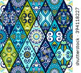 seamless pattern. vintage... | Shutterstock .eps vector #394118227