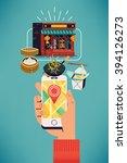 find oriental food near you....   Shutterstock .eps vector #394126273