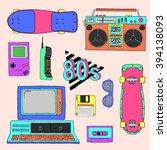 80's vector elements collection | Shutterstock .eps vector #394138093