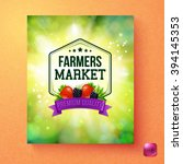 colorful fresh green poster... | Shutterstock .eps vector #394145353