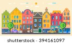 set of cute detailed vector old ... | Shutterstock .eps vector #394161097
