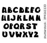 funny alphabet. vector letters... | Shutterstock .eps vector #394161133
