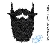 hairy curly hipster strong... | Shutterstock .eps vector #394165387
