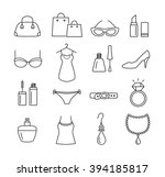 collection of icons   ladies... | Shutterstock .eps vector #394185817