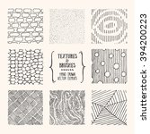 hand drawn textures and brushes.... | Shutterstock .eps vector #394200223