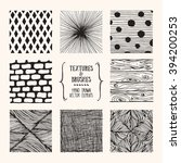 hand drawn textures and brushes....   Shutterstock .eps vector #394200253