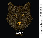 creative stylized wolf head in... | Shutterstock . vector #394205443