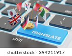 foreign languages translation... | Shutterstock . vector #394211917