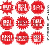 best seller label set  best... | Shutterstock .eps vector #394212703