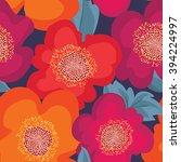 floral seamless pattern. flower ... | Shutterstock .eps vector #394224997