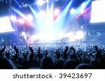 party people at a frenetic pop... | Shutterstock . vector #39423697