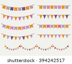 colorful bunting and garland... | Shutterstock .eps vector #394242517