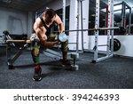 the athlete doing exercises for ... | Shutterstock . vector #394246393