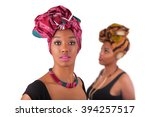 young beautiful african womans... | Shutterstock . vector #394257517