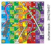 snake  ladder and rocket game | Shutterstock .eps vector #394278457